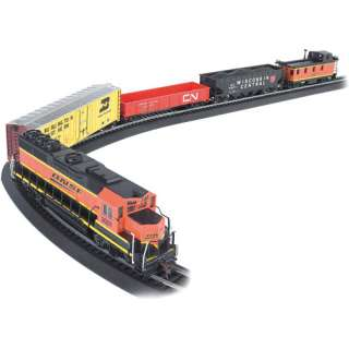 Train Set, HO Scale Electric Train Set, 130 Piece Train Set, Bachmann