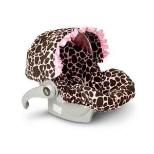 Baby Bella Maya Infant Car Seat Cover Ginny Giraffe With Ruffle Baby