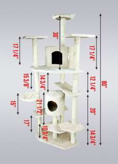 Big Tall Cat Tower Tree with Condo Scratcher Furniture Play House Post