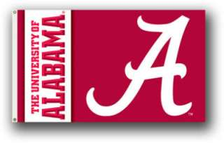 3x5 College Football Flags Alabama Crimson Tide Banners