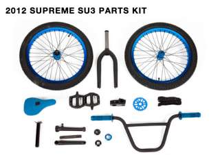 WHEEL SET BIKES BLUE WHEELS ODYSSEY PROFILE FRONT BACK 9 TIRES S&M BMX
