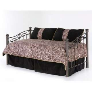 Onyx Black Cheetah Leopard Print Daybed Comforter Cover Bedding Set