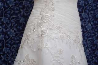 Mon Cheri 15261 Golden Ivory Tulle Wedding Dress 8 NWT
