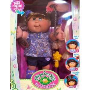 Pop N Style Cabbage Patch Kids Doll   Blonde Hair & Green
