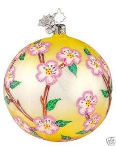 RADKO 1011648 CHERRY BLOSSOMS   YELLOW FLOWER ORNAMENT