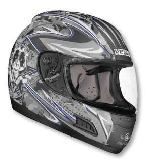 Vega Altura Lock n Load Full Face Motorcycle Street Bike Helmet