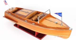 Chris Craft Runabout Wood Model 24 Classic Mahogany Racing Speed Boat