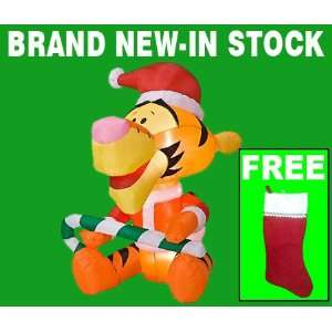 Inflatable Christmas Yard Decorations   6 Tall Disney Tigger Outdoor