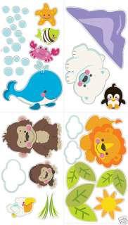 BiG PRECIOUS PLANET Wall Sticker Baby Animals Room Decor Decals