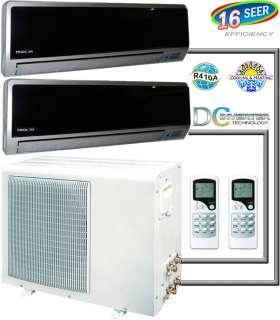 Air Conditioner, Dual Zone Mini Split AC Heat Pump Heater Dehumidifier