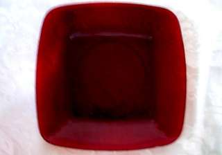 Vintage ANCHOR HOCKING ROYAL RUBY Red Square Plate