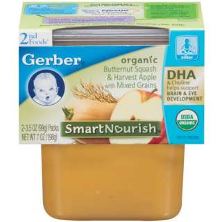 Gerber Organic 2nd Foods Butternut Squash & Harvest Apple