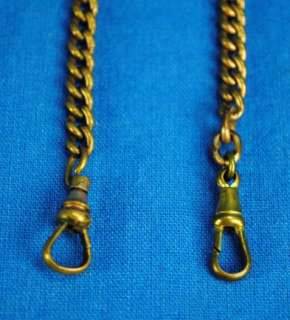 Old Vintage Double Watch Chain Fob Anchor Logo 16 Brass