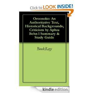 Aphra Behn l Summary & Study Guide BookRags  Kindle Store