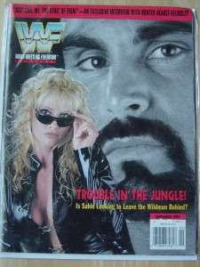 WWF female wrestling magazine/Diva Sable 9 97