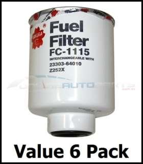 Toyota Hilux Surf 2LT 1KZT Diesel Fuel Filter   6 Pack