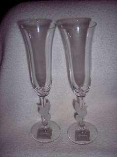waterford millennium toasting flutes set