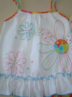 NWT Girls Pink Blue Flower Capri Shirt KIDS HEADQUARTERS Sz 4T