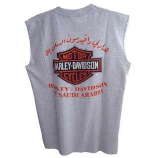 HARLEY DAVIDSON Saudi Arabia Motorcycles Vintage Graphic Logo Tee T