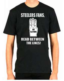 RAVENS FAN HATE STEELERS FUNNY FOOTBALL BALTIMORE SHIRT