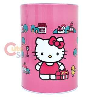 Sanrio Hello Kitty Coin Bank / Pencil Tin Case Pink