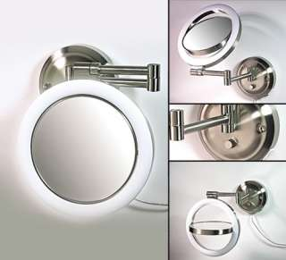 New 10x Dimmable Sunlight Lighted Wall Makeup Mirror