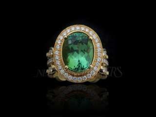 NEW DORIS PANOS 8.25 CARAT TOURMALINE DIAMOND RING,18k