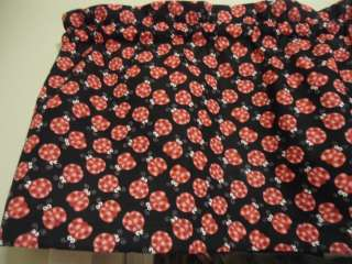 Black Ladybug Bug Red Spring Bedroom Kitchen Window Valance