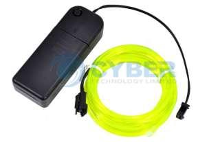 Flexible Neon EL Light Glow Wire Rope Car Party Green 3