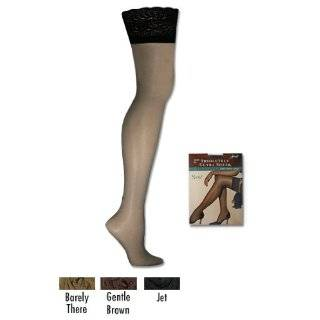 Hanes Absolutely Ultra Sheer Lace Thigh High 1 Pair Pack, S Jet by