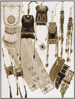 Native American Indian Womens Accessories, Bags Sewing Pattern