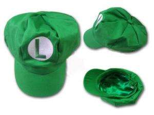 New Super Mario Bros Cosplay Hat Green Luigi Boy Girl Cap ( Child Size