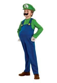Super Mario Bros. Deluxe Luigi Child Halloween Costume