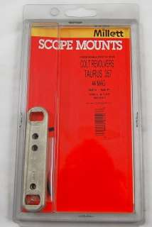Millett Scope Mount for Colt Revolvers, Taurus 357 Mag New in Box