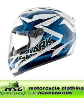 SHARK RACE R PRO KUNDO MOTORCYCLE CRASH HELMET SMALL WHITE/BLUE/BLACK