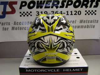 NEW VEGA HAVOC MOTORCYCLE STREET BIKE HELMET YELLOW CAMO MEDIUM
