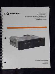 Motorola MTR 2000 Installation & Operation Manual Analog Conventional