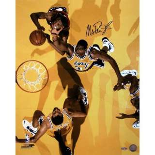 Steiner Sports Magic Johnson Autographed Overhead View Versus Heat