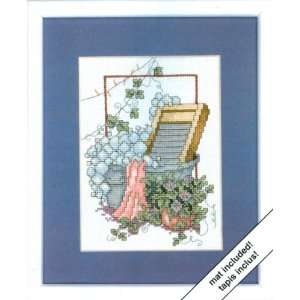 Weekenders Laundry Room Cross Stitch Kit Arts, Crafts