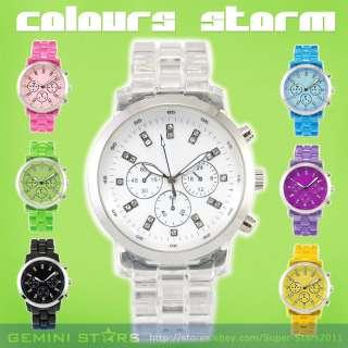 BN Colorful Sport Men Lady Silicone/Plastic Wrist Watch