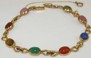 10.00ctw Ancient Egyptian Scarab Gemstone Bracelet 9.7g   $1899