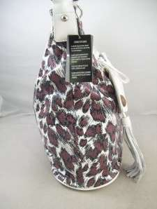 Sharif Leopard Print Hobo Shoulder Bag Handbag New