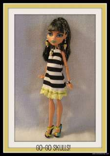 GOTH Clothes Dress + Jewelry 4 MONSTER HIGH DOLL Custom Fashion SKULLS
