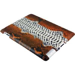 100% Genuine Python Snake Leather iPad 2 Case   Orange