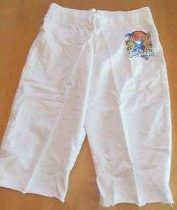 Angels Juniors White Capri Sweatpants Size M