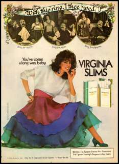 1984 vintage ad for Virginia Slims Cigarettes 251