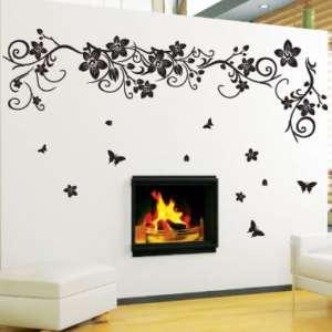 Large Flower Butterfly Tree Art Wall Sticker/Wall decal