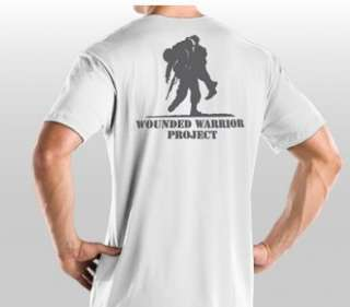 UNDER ARMOUR HEATGEAR WWP WOUNDED WARRIOR PROJECT WHITE