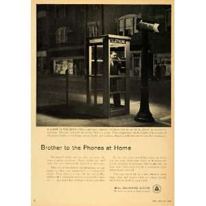 1955 Ad Bell Telephone System Phone Booth Brother Calls   Original